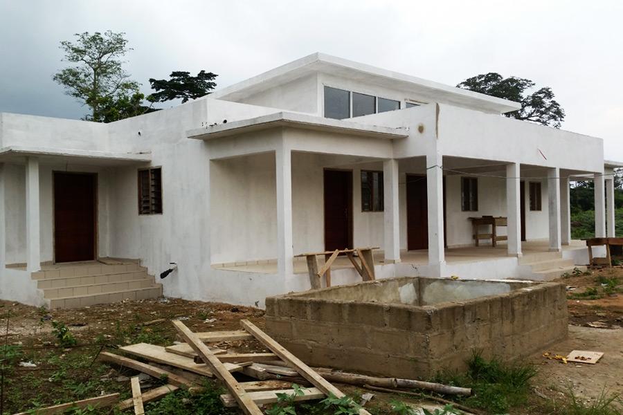 Estado de las obras de la Maternidad de Nandibou en diciembre 2016