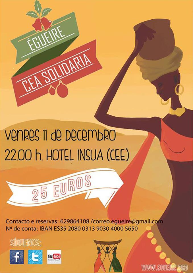Cartel de la II Cena Solidaria organizada por Égueire
