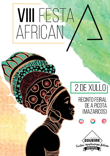 Cartel de la VIII fiesta africana organizada por Égueire