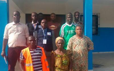 Visita del ministerio de sanidad para autorizar la apertura de la maternidad de Nandibou