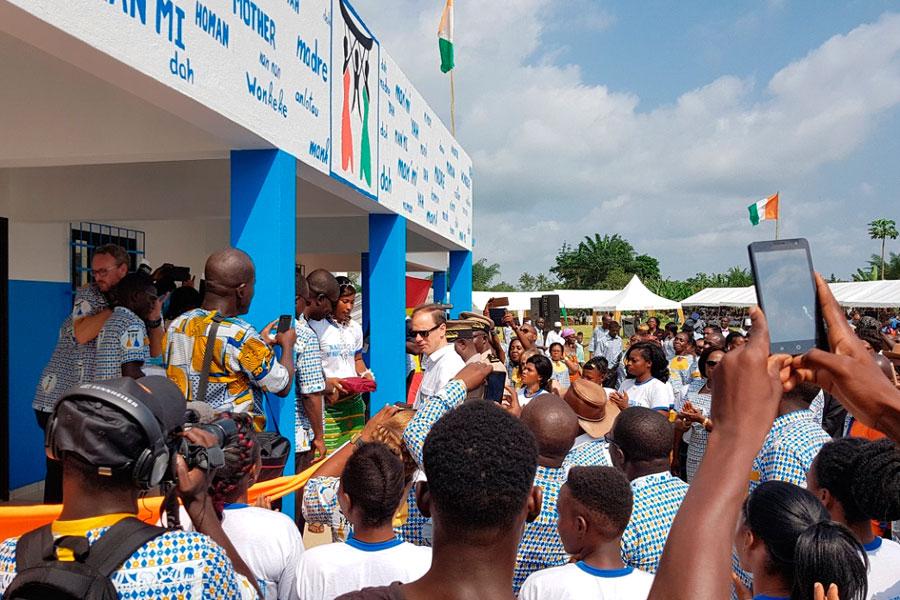 Inauguración de la maternidad de Nandibou el día 2 de diciembre de 2017