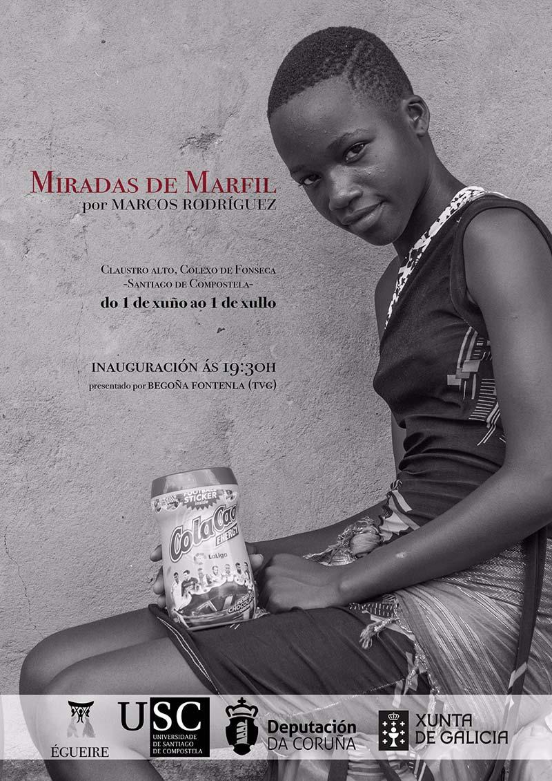 """Exposición del fotógrafo Marcos Rodríguez titulada """"Miradas de Marfil"""" de su viaje con Egueire a Costa de Marfil"""