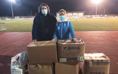 Unión Club Cee realiza una donación de equipación para Égueire